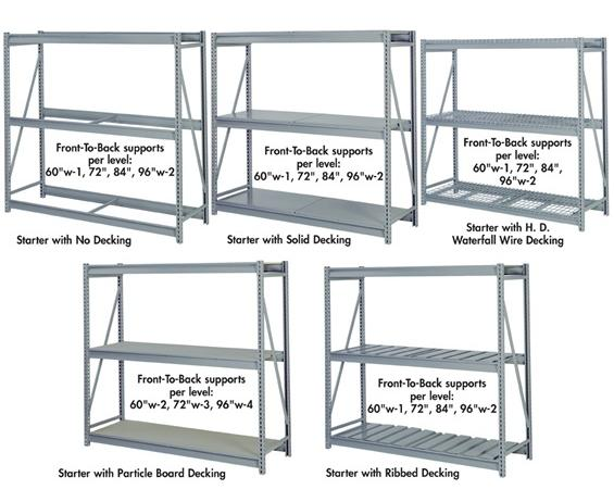 "PRE-ENGINEERED BULK STORAGE RACKS - 84"" H."